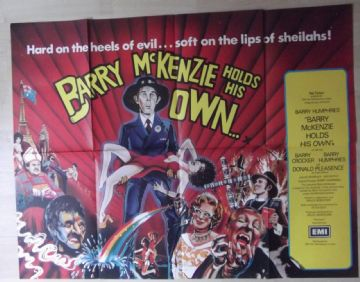 Barry McKenzie Holds His Own, Original UK Quad Poster, Barry Humphries, Dame Edna, '74